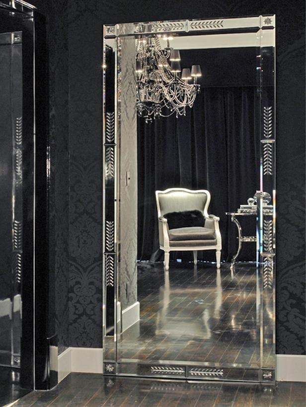 style your home with large floor mirrors