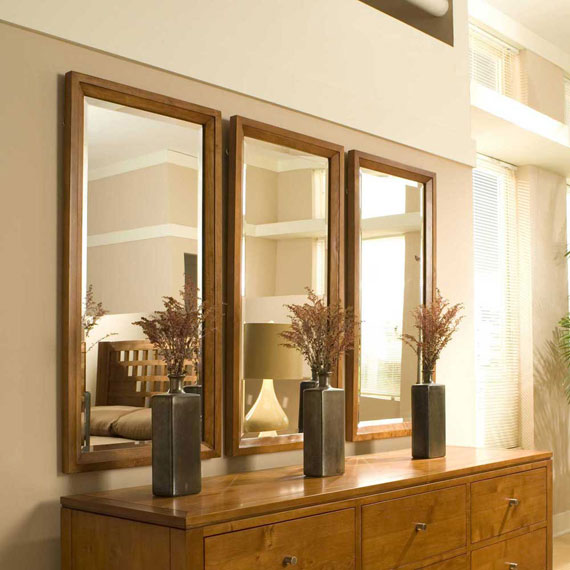 Modern large wall mirror for interiors for Large framed mirrors for walls