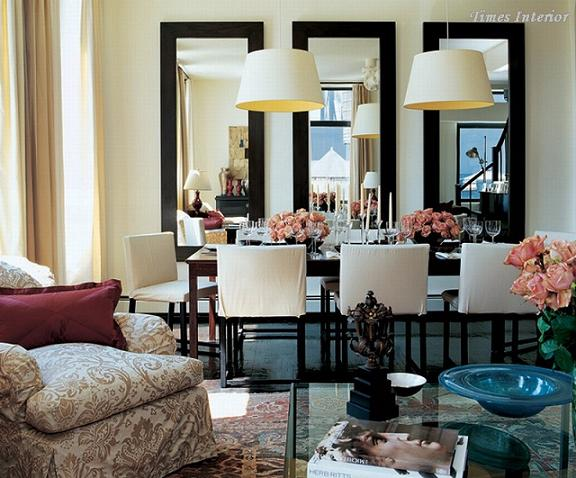 How to beautifully decorate a room with mirror for Dining room no windows