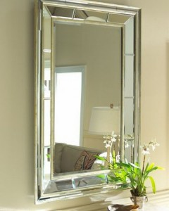 double beveled mirror