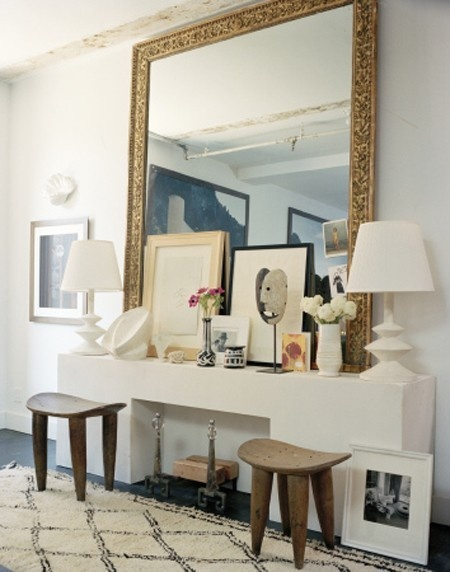 gold frame extra large mirror
