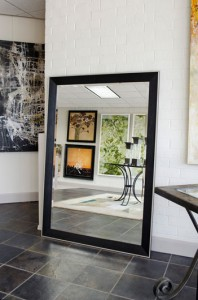 large-black-floor-mirror