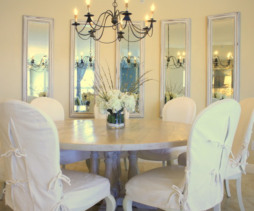 Multiple Mirrors In Dining Room