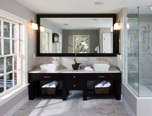 A Mirror Is Practical And Functional Item To Have In The Bathroom Securely Install Big Over Vanity Or Floor One Corner