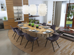 Luxury dining room in a contemporary style.